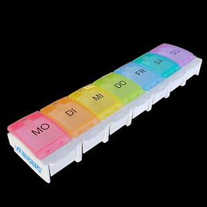 Pillendose Pillenbox Design Tabletten-Box Medikamentenbox 7 Tage VABIONO®