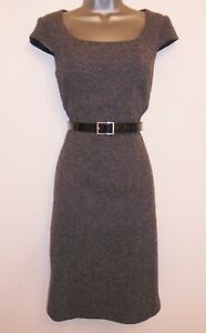 Phase Eight Grey Tweed Belted Smart Office Evening Occasion Pencil Dress Size 10