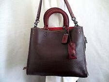 NWOT  Coach 1941 Rogue Bag in Glove Tanned Pebble Leather Oxblood 20315