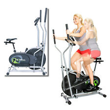 Elliptical Trainer Exercise Bike Gym Workout Electric Flywheel Fan Cardio Home