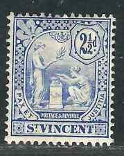St Vincent 93 SG 97 2.5 d Blue MHR F/VF 1907 SCV $45.00