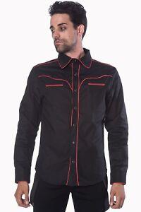 Hemd schwarzer Edelmann Herrenhemd Gothic