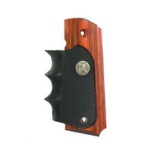 Pachmayr 1911 Grip-Wood Grip Panels W/Rubber Finger Grooves-00423