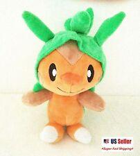 """New Pokemon XY Chespin Plush Toy Pokedoll Stuffed Doll Gift 8"""" US"""