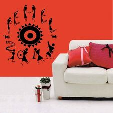 meSleep Traditional Dance Design Black Wall Sticker- Wall Decals -ws-S-04-04