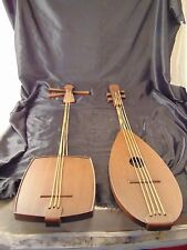 Music instruments wall hangings 2 plastic Burwood Products MCM 1960's guitar art