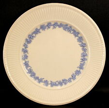 """Wedgwood Queens Ware Edme Blue Grapes Blue on White 9"""" Luncheon Plate Good COND"""