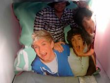 One Direction Pop Group Decorative Pillow Picture 15 Inch Square Pink