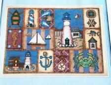 """Design Connection's SHIP TO SHORE Cross Stitch Kit K7-902 12.5"""" X 9.25"""" New"""