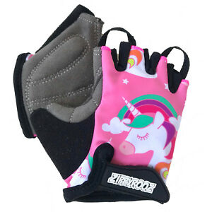 ZippyRooz Unicorns Toddler/ Little Kids Bike Glove Sport Half Finger Girls Boys