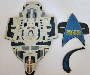 1996 Ertl Star Trek Defiant Deep Space Nine Model Kit Painted