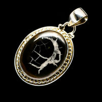 """Septarian Geode 925 Sterling Silver Pendant 1 5/8"""" Ana Co Jewelry P707744F"""