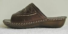Rohde 5776 Bronze Leather Mule Sandal Size EU36 UK3.5 Low Wedge Heel German G
