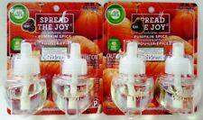 4 Air Wick Scented Oil PUMPKIN SPICE JOY Fragrance 2 Plugins Twin Packs Refills