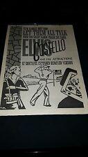 Elvis Costello Let Them All Talk Rare Original U.K. Promo Poster Ad Framed!