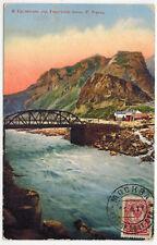 Gnileti Bridge over Terek River, GGR, Russian Caucasus, 1911, Moscow to Belgium