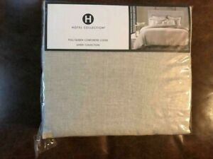 """HOTEL COLLECTION """"NATURAL LINEN"""" FULL/QUEEN COMFORTER COVER [NEW]"""