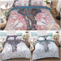 Elephant Mandala Duvet Cover Sets New Reversible Bedding Single Double King size