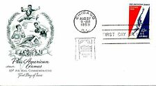 1958  AIR MAIL 10 CENT PAN AMERICAN ARTMASTER CACHET  UNADDRESSED FDC