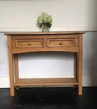 Oak Style Console Hallway Table