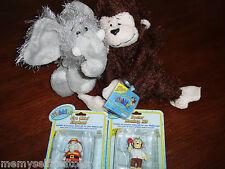 Webkinz Plush Elephant Monkey Fire Chief Dr Monkey Figure Full Size Unused Codes