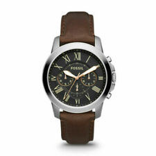 FOSSIL FS4813 Grant Chronograph Black Dial Brown Leather Men's Watch