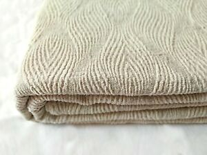 softened linen blanket / organiс bedspread Coverlet throw ivory - natural gray