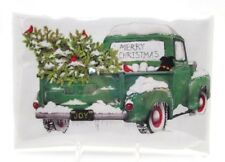 MARY LAKE-THOMPSON Bagged Cotton Flour Sack Kitchen Towel ~ Holiday Green Truck