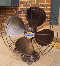 "Vintage R&M Banner Oscillating Fan-18""-2 Speed-Brown-Heavy Metal-Art Deco"