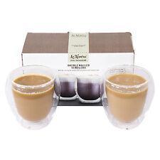 2 x le'xpress doppia parete isolata Cappuccino Occhiali TAZZE Di Caffè Tè Tazze