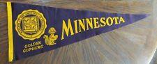 Vintage Minnesota Golden Gophers Felt Football Pennant