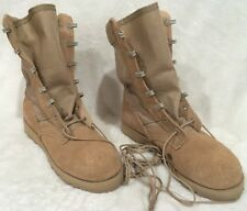 Vibram Desert Tan Suede Leather Military Combat Sole Hiking Boots Sz 2.5 W +