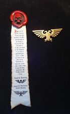 40k Space Marine Purity Seal and eagle pin