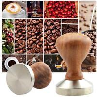 49-58mm Edelstahl Espresso Kaffeebohne Tamper Presswerkzeug Holzgriff  Si gut