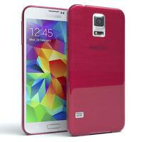 Schutz Hülle für Samsung Galaxy S5 / Neo Brushed Cover Handy Case Pink