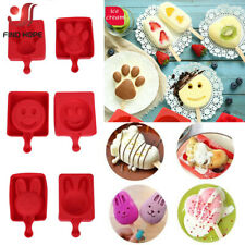 Silicone Ice Cream Mold Ice Lolly Maker Frozen Mould Popsicle Chocolate Tray