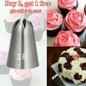 Large Size Rose Flower Cream Icing Piping Nozzle Stainless Steel Pastry Tips✅