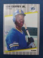 1989 Fleer Ken Griffey Jr. Rookie Card # 548 Seattle Mariners HOF Superstar