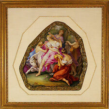Antique 19 century Hand Painted French Painting on Porcelain Plaque