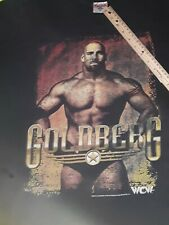 Vtg 90s GOLDBERG WCW T-SHIRT XXL Black Bill