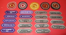 24 VINTAGE 1980's High School Sports Patches Soccer, Basketball, Track & Field +