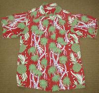 Vintage 1950s HALE HAWAII Hawaiian Men's Shirt Silk Rayon