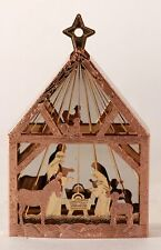 Vintage 1987 Hallmark ~Miniature Creche Multi Plated Brass~ Ornament Collector's