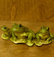 Castagna Animal Figurines #0141 FROGS, Made in Italy, NEW/Box from Retail Store