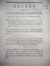 360 LOI & DECRET CONVENTION NATIONALE 1793 DEPARTEMENT DU NORD & DE L'EST GUERRE