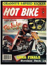 HOT BIKE MAY 1987 C&L GHETTO BLASTER '69 FLH CUSTOM BIG BIKE STREET CHOPPERS