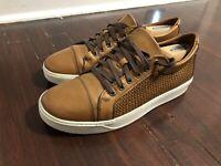 Allen Edmonds 9 D Bisbane Walnut Brown Woven Leather Vibram Sneaker