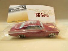 HOT WHEELS NEWSLETTER BAGGIE '66 NOVA 21ST ANNUAL CONVENTION W+