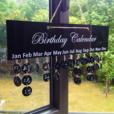 DIY Birthday Reminder Calendar Acrylic Board Sign Wall Plaque Hanging Decor