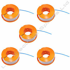 5 x Trimmer Spool & Line For Bosch ART23 Combitrim Comfort & Easytrim Strimmer